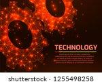 gears. abstract vector...   Shutterstock .eps vector #1255498258