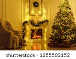 christmas interior in the... | Shutterstock . vector #1255502152