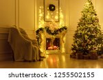 christmas interior in the... | Shutterstock . vector #1255502155