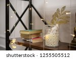 decorations and lights on the... | Shutterstock . vector #1255505512