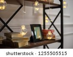 decorations and lights on the... | Shutterstock . vector #1255505515