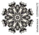 hand drawn henna ethnic mandala.... | Shutterstock .eps vector #1255506172
