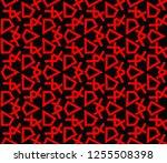 decorative wallpaper design in... | Shutterstock .eps vector #1255508398