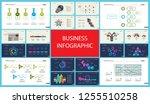 set of analysis or statistics... | Shutterstock .eps vector #1255510258