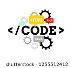 code. programming languages ... | Shutterstock .eps vector #1255512412