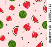 watermelons  ice cream  yummy ... | Shutterstock .eps vector #1255512712