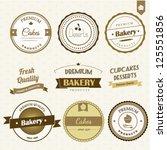 bakery labels set | Shutterstock .eps vector #125551856