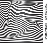 black and white curved lines ... | Shutterstock .eps vector #1255527352