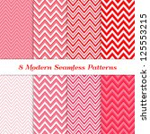 8 Seamless Chevron Patterns In...
