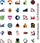 vector icon set   growth chart... | Shutterstock .eps vector #1255543108
