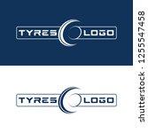 modern tyre shop logo design  ... | Shutterstock .eps vector #1255547458