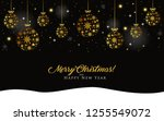 christmas background with... | Shutterstock .eps vector #1255549072