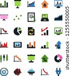 vector icon set   growth chart...   Shutterstock .eps vector #1255550005