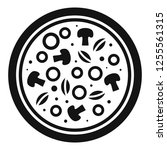 mushroom pizza icon. simple... | Shutterstock . vector #1255561315