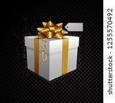 golden vector 3d gift box...   Shutterstock .eps vector #1255570492