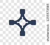 car universal joint icon.... | Shutterstock .eps vector #1255573585