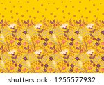 seamless border with folk... | Shutterstock .eps vector #1255577932