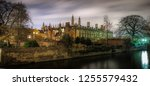 buildings on the river cam.... | Shutterstock . vector #1255579432