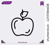 apple with leaf icon isolated...