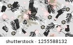 illustration of  flowers ... | Shutterstock .eps vector #1255588132