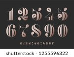 font of numbers in classical... | Shutterstock .eps vector #1255596322