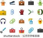 color flat icon set apron flat... | Shutterstock .eps vector #1255598308