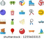 color flat icon set cake flat... | Shutterstock .eps vector #1255603315