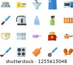 color flat icon set sink flat... | Shutterstock .eps vector #1255615048