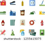 color flat icon set sockets... | Shutterstock .eps vector #1255615075