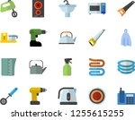 color flat icon set drill... | Shutterstock .eps vector #1255615255