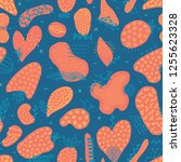 vector seamless pattern with... | Shutterstock .eps vector #1255623328
