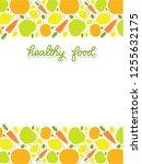 healthy food veggie banner... | Shutterstock .eps vector #1255632175