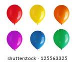 children's party balloons | Shutterstock . vector #125563325