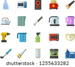 color flat icon set drill... | Shutterstock .eps vector #1255633282
