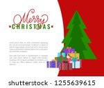 merry christmas wishes... | Shutterstock .eps vector #1255639615