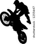 man hitting jump on dirt bike | Shutterstock .eps vector #1255647
