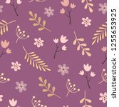 seamless pattern with flowers... | Shutterstock .eps vector #1255653925
