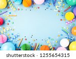 birthday party background on...   Shutterstock . vector #1255654315