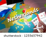 netherlands travel concept map... | Shutterstock . vector #1255657942