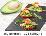 appetizer of bread with seeds ... | Shutterstock . vector #1255658248