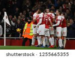 lucas torreira of arsenal is... | Shutterstock . vector #1255665355