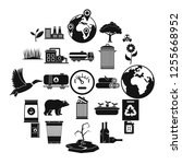 enviroment protection icons set.... | Shutterstock . vector #1255668952