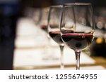 red wine tasting | Shutterstock . vector #1255674955