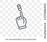 touch and scroll gesture icon.... | Shutterstock .eps vector #1255686442