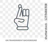 cross finger  luck icon. trendy ... | Shutterstock .eps vector #1255686508