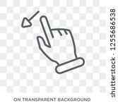 flick left gesture icon. trendy ... | Shutterstock .eps vector #1255686538
