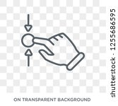 horizontal scroll gesture icon. ... | Shutterstock .eps vector #1255686595