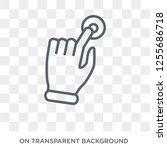 tactil gesture icon. trendy... | Shutterstock .eps vector #1255686718