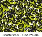 hand drawn doodle abstract... | Shutterstock .eps vector #1255698208