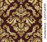 classic seamless vector pattern.... | Shutterstock .eps vector #1255716955